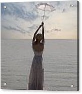 Woman At The Beach Acrylic Print