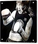 Woman's Boxing Champion Filipino American Ana Julaton Acrylic Print