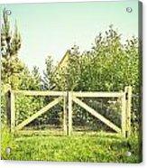 Wooden Gate Acrylic Print