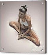 Yoga Bound Angle Pose Acrylic Print