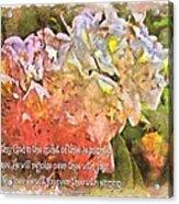 Zephaniah 3 17 Acrylic Print