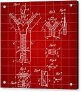 Zipper Patent 1914 - Red Acrylic Print