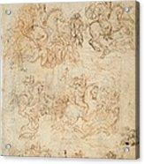 Italy, Veneto, Venice, Accademia Art Acrylic Print by Everett