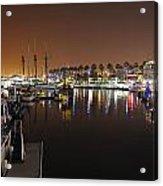 Long Beach Marina- California Acrylic Print