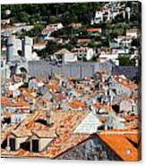 Views Of Dubrovnik Croatia Acrylic Print