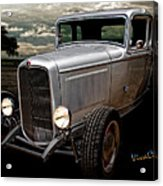 32 5 Window Coupe Rainy Day Cruise Acrylic Print