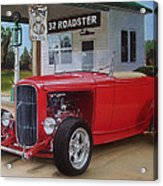 32 Ford At Filling Station Acrylic Print