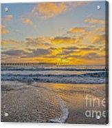 Ocean Beach Pier Sunset Acrylic Print