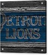 Detroit Lions Acrylic Print