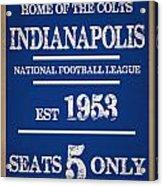 Indianapolis Colts Acrylic Print