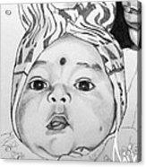 Pencil Sketches Acrylic Print