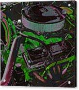 350 Battle Ax In Green Acrylic Print