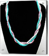 3584 Three Strand Twisted Shell Necklace Acrylic Print