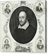 William Shakespeare (1564 - 1616) Acrylic Print