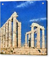 Poseidon Temple Acrylic Print