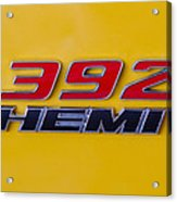392 Hemi In Yellow Acrylic Print