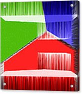 3d Abstract 3 Acrylic Print by Angelina Vick