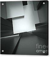 3d Abstract Architectural Background Acrylic Print