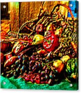 3d Cornucopia In Watercolor Acrylic Print