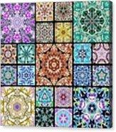 3d Cosmic Sample Grid Acrylic Print