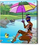 Girl By The Lake Acrylic Print
