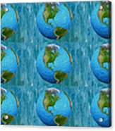 3d Render Of Planet Earth 1 Acrylic Print
