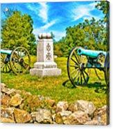 3rd Massachusetts Battery Gettysburg National Military Park Acrylic Print
