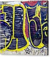 3t Graffiti Acrylic Print