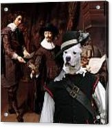 American Staffordshire Terrier Art Canvas Print Acrylic Print