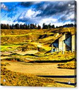 #18 At Chambers Bay Golf Course - Location Of The 2015 U.s. Open Tournament Acrylic Print