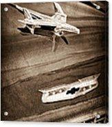 1955 Chevrolet Belair Hood Ornament Acrylic Print