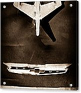 1955 Chevrolet Belair Nomad Hood Ornament Acrylic Print