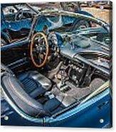 1959 Chevy Corvette Convertible Painted  Acrylic Print