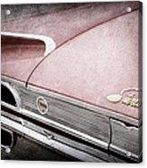1960 Ford Galaxie Starliner Taillight Emblem Acrylic Print