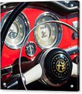 1961 Alfa Romeo Giulietta Spider Steering Wheel Emblem -1239c Acrylic Print