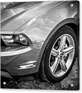 2010 Ford Mustang Convertible Bw Acrylic Print