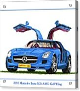 2010 Mercedes Benz S L S Gull-wing Acrylic Print