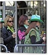 A View Of Some People Enjoying The 2009 New York St. Patrick Day Acrylic Print