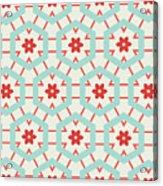 Abstract Retro Pattern. Vector Acrylic Print