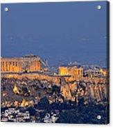 Acropolis Of Athens During Sunrise Acrylic Print