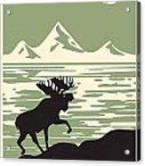 Alaska Denali National Park Poster Acrylic Print