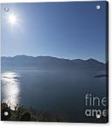 Alpine Lake With Mountain Acrylic Print
