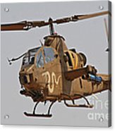An Ah-1s Tzefa Attack Helicopter Acrylic Print