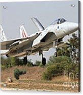 An F-15c Baz Of The Israeli Air Force Acrylic Print