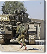 An Israel Defense Force Merkava Mark II Acrylic Print