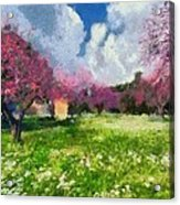 Ancient Olympia During Springtime Acrylic Print