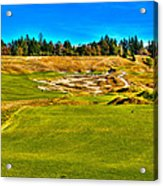 #4 At Chambers Bay Golf Course - Location Of The 2015 U.s. Open Championship Acrylic Print by David Patterson