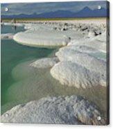 Atacama Salt Lake Near San Pedro De Acrylic Print