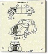 Automobile 1935 Patent Art Acrylic Print