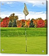 Autumn Golf Acrylic Print